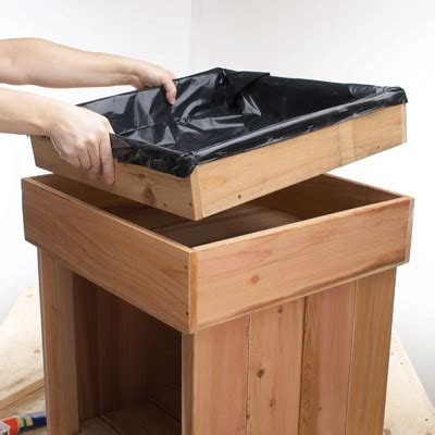 Planter Storage Box by Build Your Own Planter Cupboard Diy