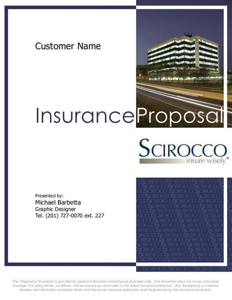 Template For Large Company Employee Insurance Proposals Corporate Work By Mike Barbetta At Coroflot