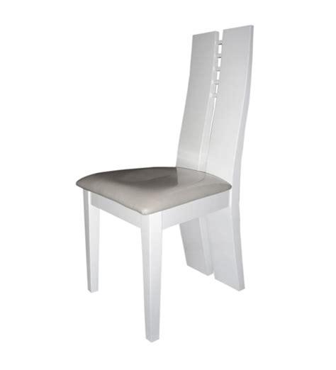 chaise bois blanc salle manger chaise sejour white blanc brillant