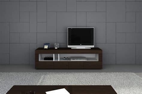 Modern Tv Wall Unit by Tobacco Finish Contemporary Entertainment Tv Stand With
