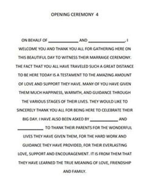 wedding script ideas on wedding ceremony script exles of wedding vows and