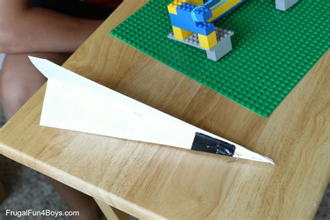 How To Make A Paper Launcher - two ways to build a lego paper airplane launcher frugal