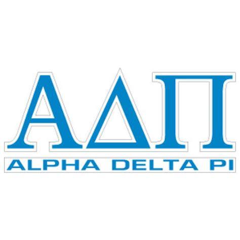alpha delta pi colors store alpha delta pi letters name decal