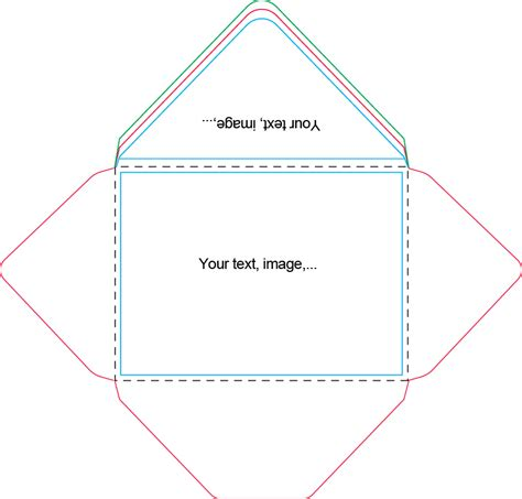6 x 8 envelope template 10 best images of free 4x6 envelope template free