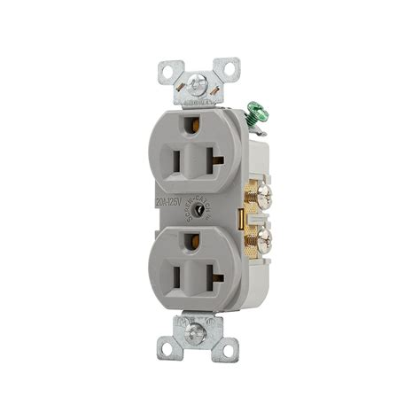 shop cooper wiring devices 20 gray duplex electrical