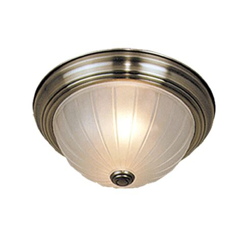 cascadia lighting claret flush mount ceiling light lowe s canada shop cascadia lighting 15 5 in w antique brass flush mount light at lowes