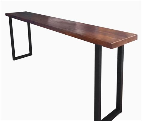 buy a custom made walnut and steel console table made to