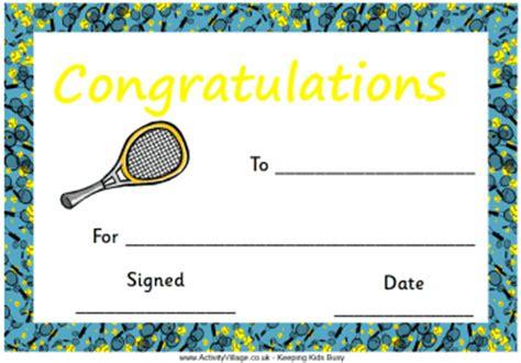 tennis certificate template free tennis certificate congratulations