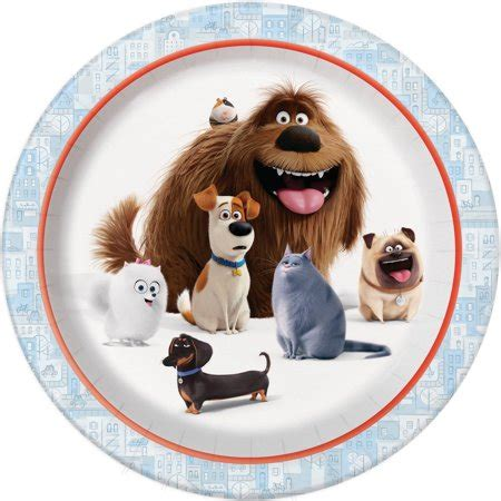 secret life  pets party plates ct walmartcom