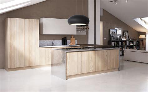 Country Kitchen With Island by Cucina In Legno Contemporanea Moderna Componibile
