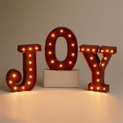 Joy Battery Operated Marquee Lights World Market Marquee Lights