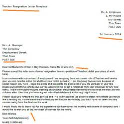 Exles Of Resignation Letters For Teachers by Resignation Letter Exle Toresign