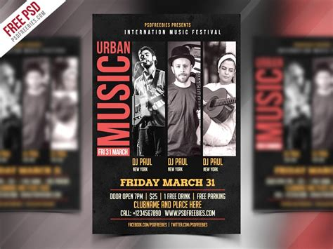 Music Event Flyer Template Psd Download Download Psd Band Promo Template