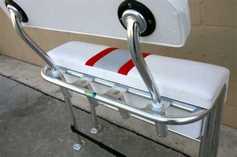 boat bench seat backrest folding back rest snake back arms birdsall marine design