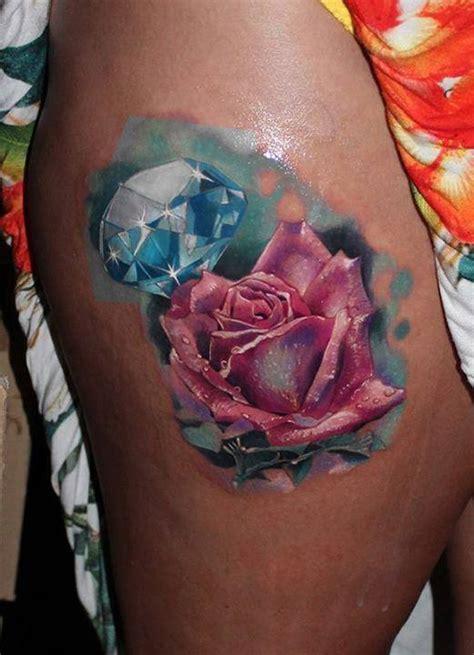 tattoo diamond flower 35 realistic floral tattoos