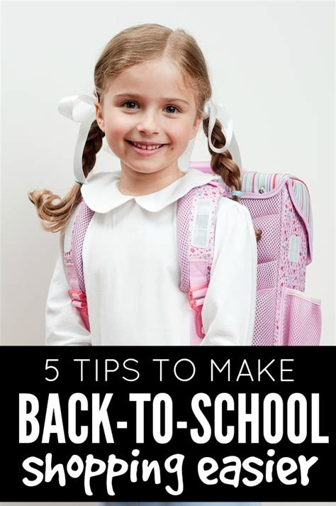 5 tips to make back to school clothes shopping easier