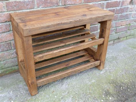 outdoor shoe bench simple style of wooden outdoor shoe rack in charming design idea with two storages to save nine