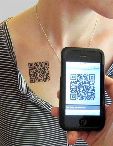 qr code tattoo custom qr code tattoos by