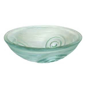 glass vessel sinks bathroom eb gs21 bath clear swirls glass vessel sink atg stores