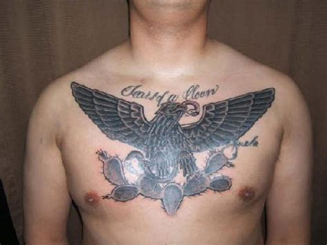 eagle with snake design for men on chest tattoo tattoos