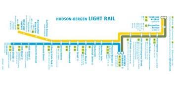hudson bergen light rail map mapsof net