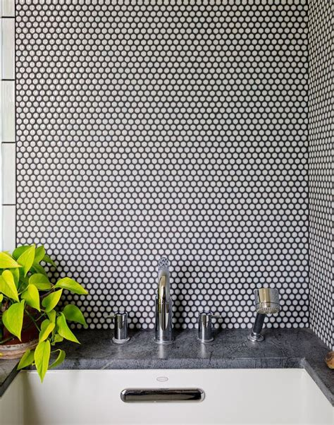 Subway Tiles Kitchen Backsplash by 30 Penny Tile Designs That Look Like A Million Bucks