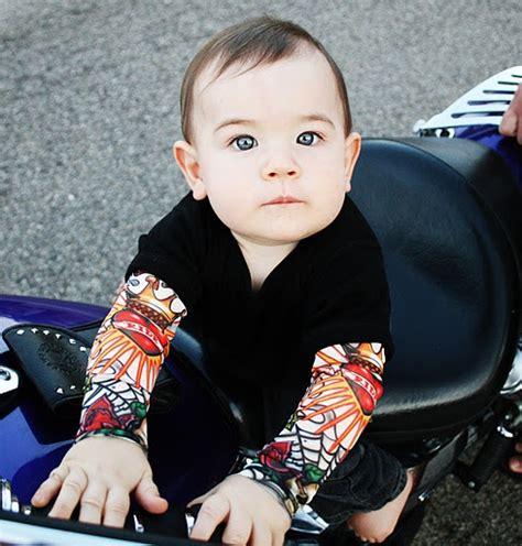 baby tattoo sleeves infant sleeve onesie with high roller sleeves