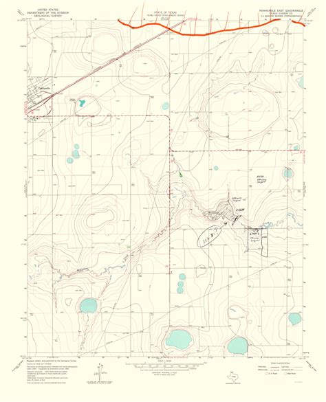 texas panhandle map of cities historical topographical maps panhandle east quadrangle texas topographical tx usgs 1967