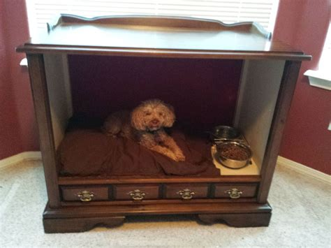 tv dog bed hometalk tv console to dog bed take 2