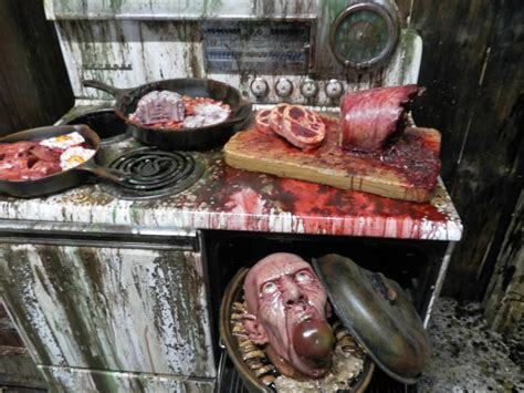 spooky halloween creepy kitchen decorations making the most haunted room at home mykitcheninterior cannibal kitchen imgur