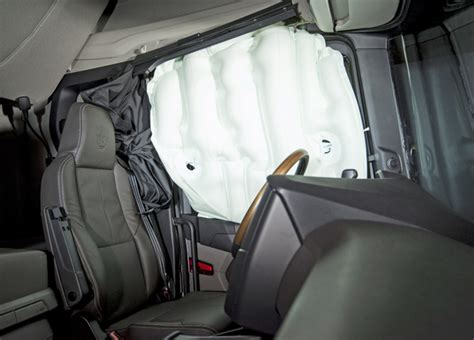 side and curtain airbags scania ups the safety game with side curtain airbags