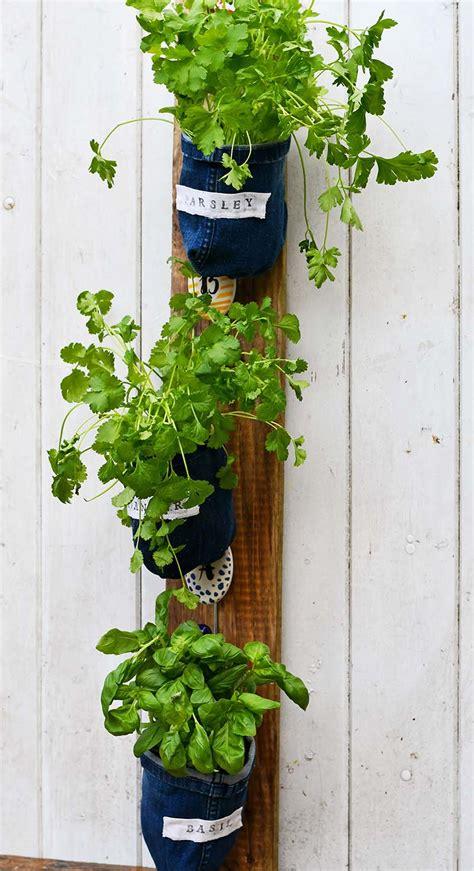 indoor herb garden planters  denim