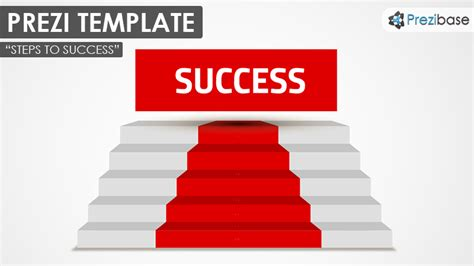 stair template steps to success prezi template prezibase