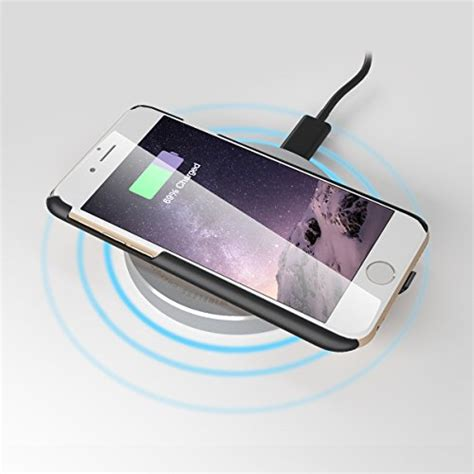 wireless charging for iphone 6 6s plus 5 5 quot built in qi compatible slim tough easy