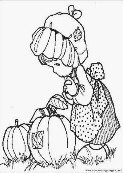fall scarecrow coloring precious moments coloring pages