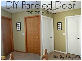 from hollow bore to a beautiful updated door diy slab door makeover using trim and paint