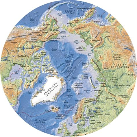 arctic map arctic topographic map map of arctic arctic map
