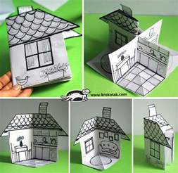 Make A Paper House - krokotak how to make a 3d paper house