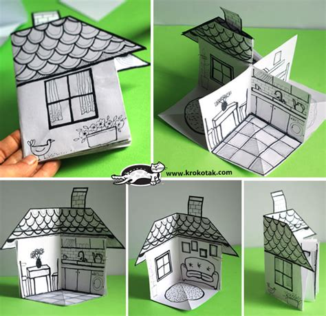 how to make a house krokotak how to make a 3d paper house
