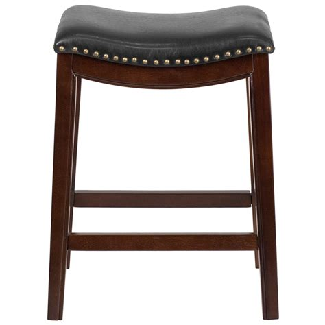 leather bar stools counter height 26 high backless cappuccino wood counter height stool