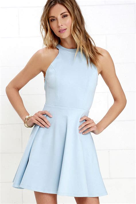 Light Blue Skater Dress by Light Blue Dress Skater Dress Backless Dress 52 00