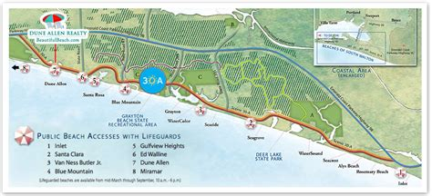 30a map 30a area information a guide to santa rosa