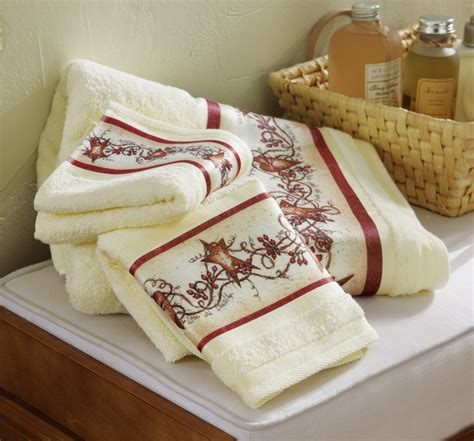 hearts and stars kitchen collection hearts and stars country bath towel set ebay