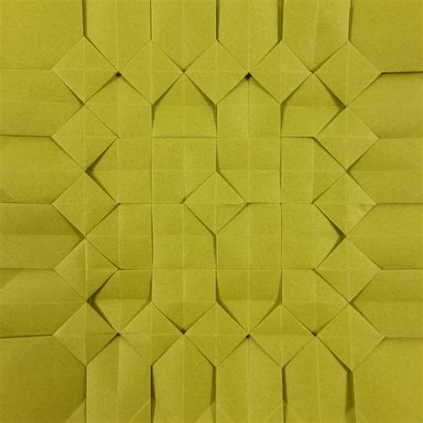 Tesselation Origami - square pixel tessellation by michaå kosmulski â crease