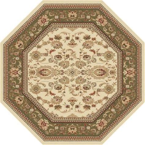 Octagon Rug by Tayse Rugs Sensation Beige 7 Ft 10 In Octagon