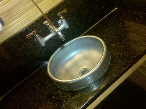 keg bathroom sink keg sink miscellaneous projects