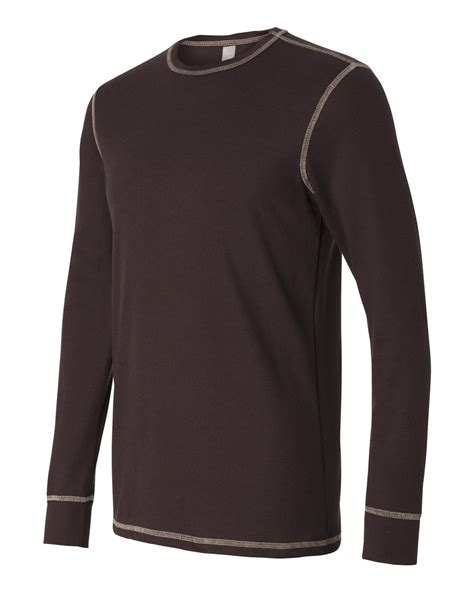 Canvas long sleeve thermal t shirt