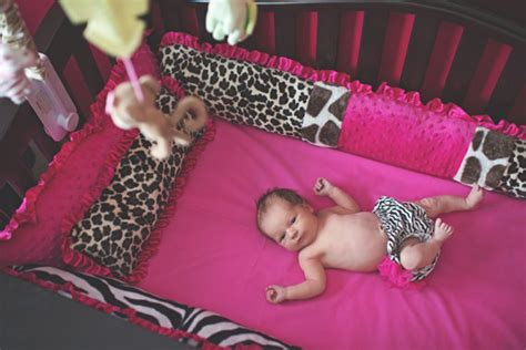 Pink Leopard Print Crib Bedding Items Similar To Pink And Animal Print Crib Bedding Set On Etsy