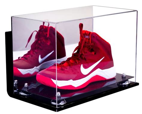 basketball shoe display basketball shoe mirrored display with wall mount for