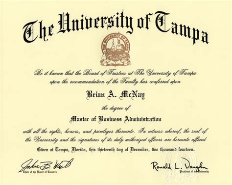 Mba With Science Degree by Resume Brian A Mcnay